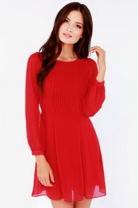 Red dress long sleeve