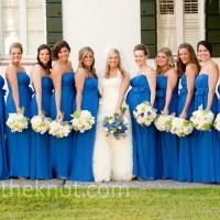Sapphire bridesmaid dresses