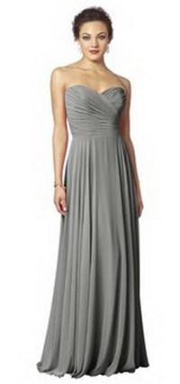 Slate grey bridesmaid dresses