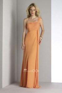 Tangerine bridesmaid dresses