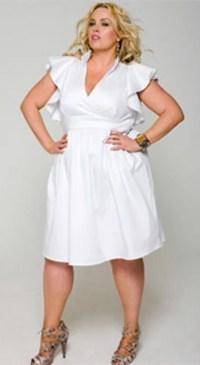 White plus size party dresses