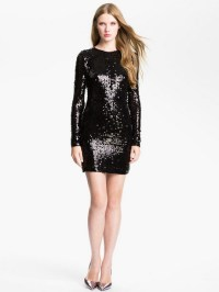 Black sequin dress with sleeves