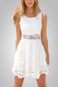 Casual short white dresses