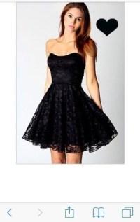 Cute short black dress