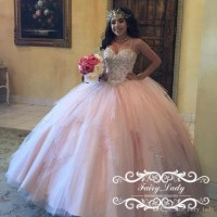Pink and silver quinceanera dresses