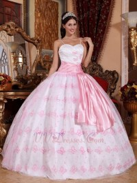 Quinceanera dresses pink and silver