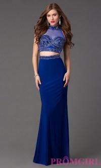 Royal blue 2 piece prom dress