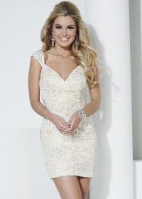 Short fitted formal dresses
