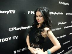 Natasha Blasick About To Go On The Playboy Morning Show