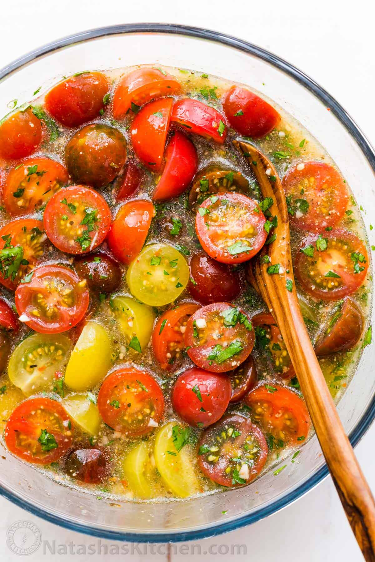 Marinated Cherry Tomatoes Recipe Natashaskitchen Com