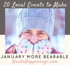Local Event Calendar: 20 January Events