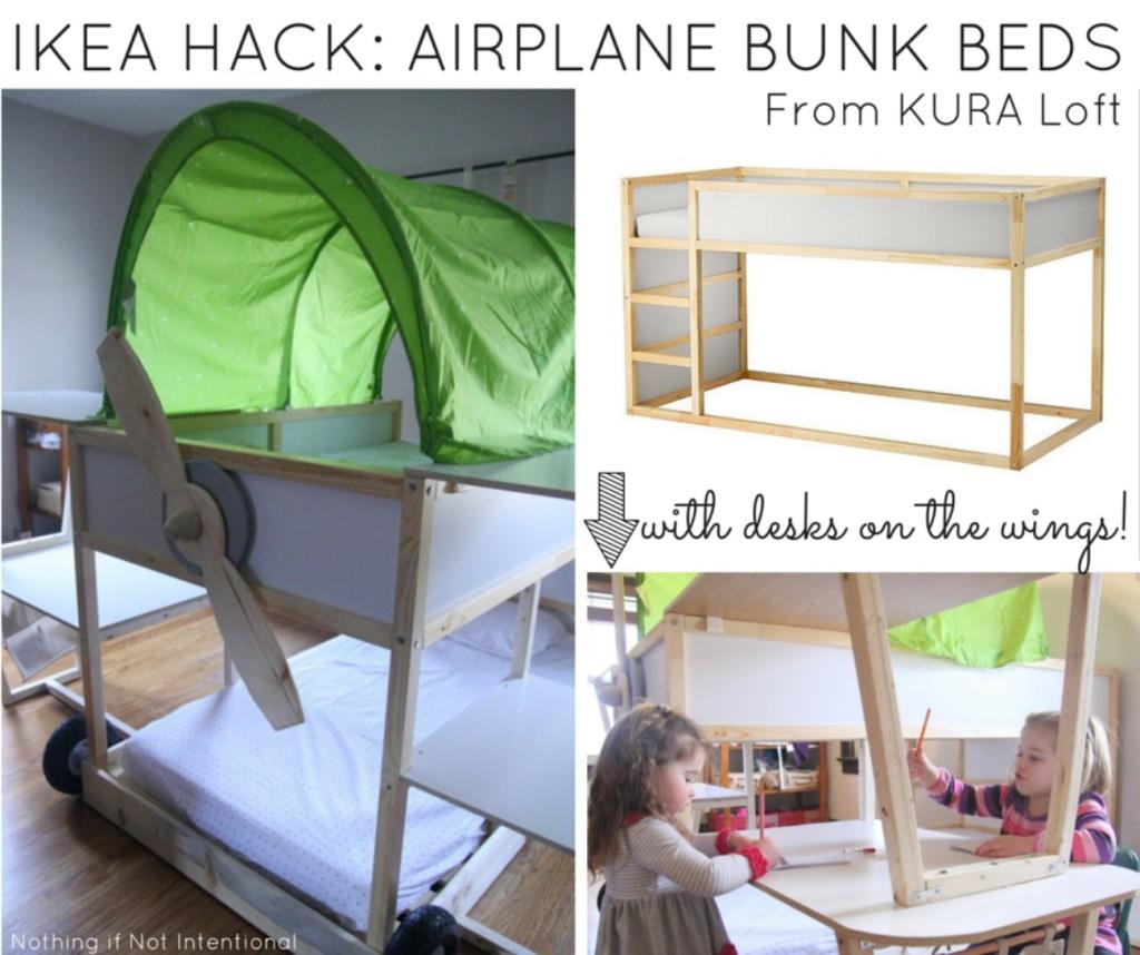 Amazing A Shared Room An Ikea Bed Hack Ikea Loft Bed Stuva Ikea Loft Bed Manual Ikea Airplane Bunk Beds Plans houzz-02 Ikea Loft Bed