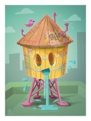 Happy Brooklyn Water Tower
