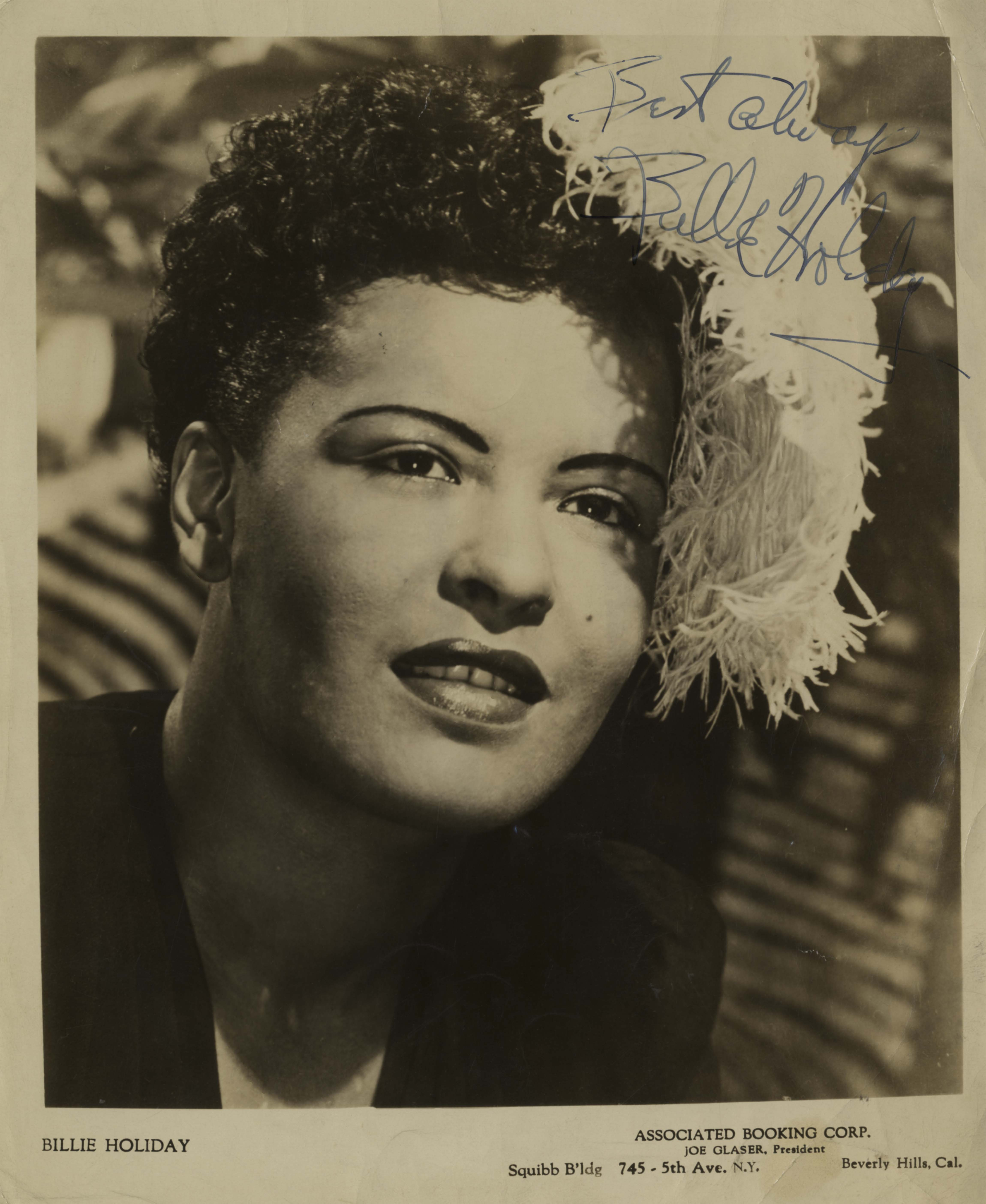 Billie Holiday Billie Holiday Autograph On Her Photo Sells For 3 750 At