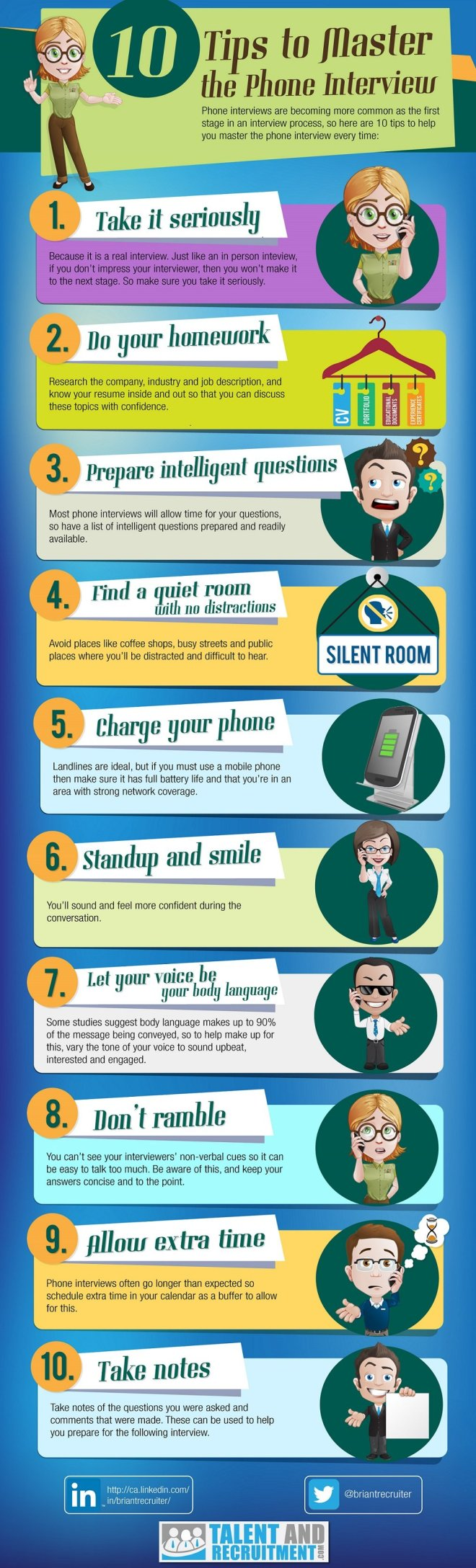 phone interview tips infographic Top 10 Tips for a Great Phone Interview