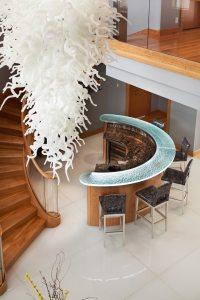 White Metallic Glass Stair Treads Glass Flooring | Nathan ...