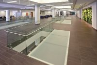 Canisius College Pixel Glass Stair Treads Glass Flooring ...