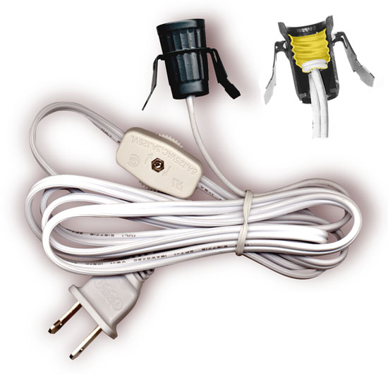 Lampe Mit Stecker Lamp Cord Sets With Socket, Switch And Molded Plug, Spt-1