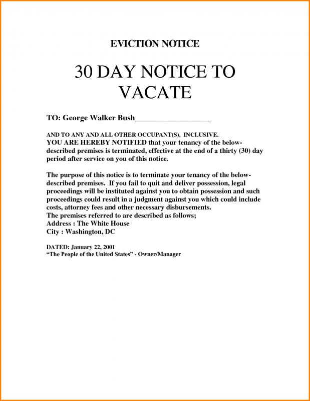 Eviction Notice Free - Unitedijawstates - copy of an eviction notice
