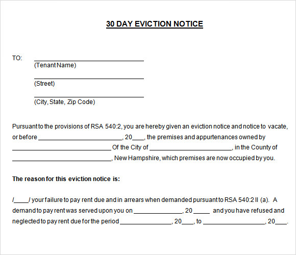 30 day eviction notice - Goalgoodwinmetals - eviction notice template word