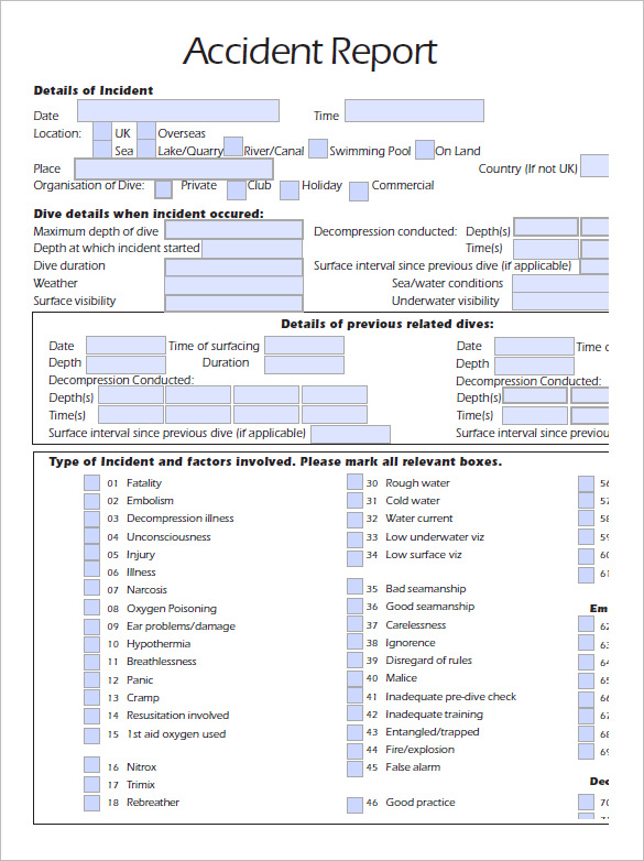 Accident Reporting Template Template Business - accident reports template