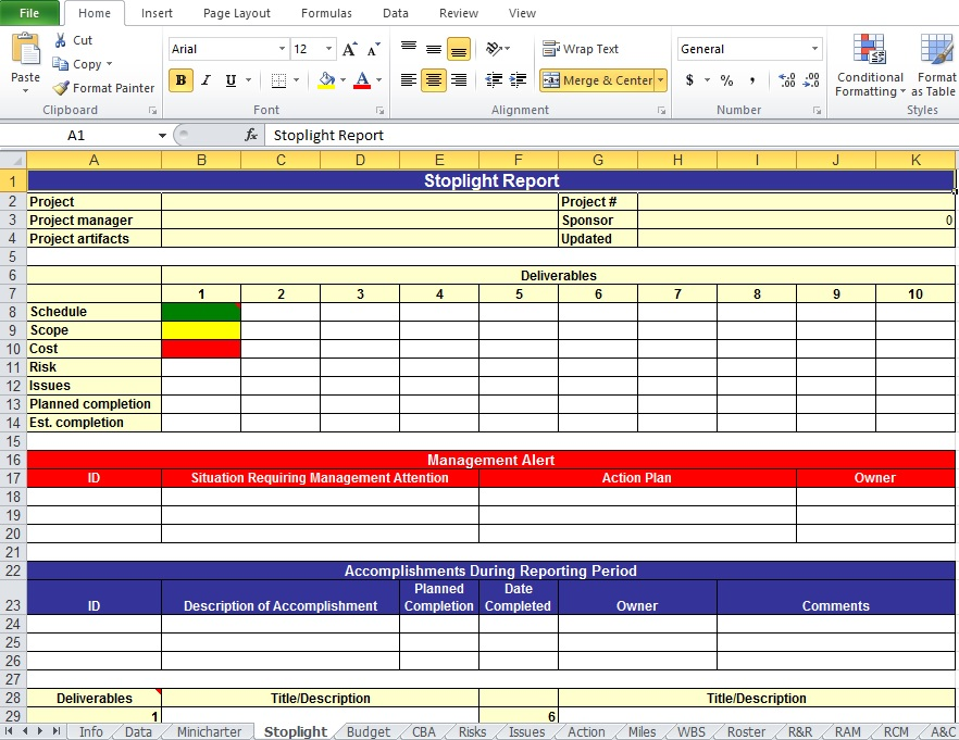 Action Plan Template Excel Template Business