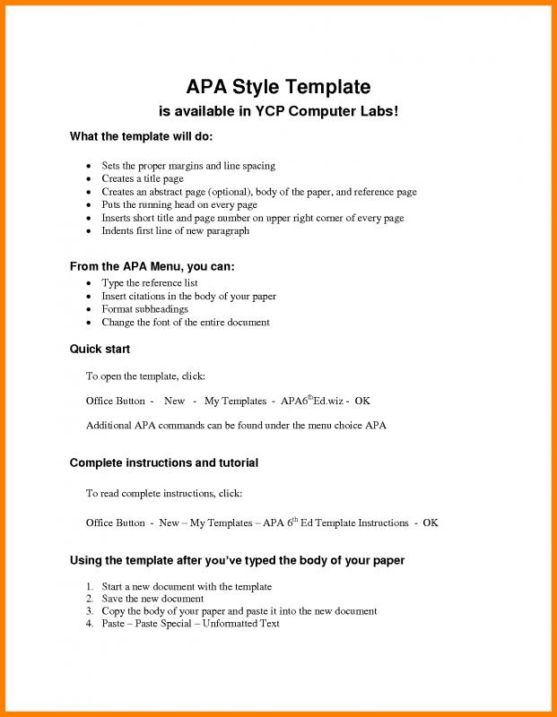 Apa Outline Template Template Business