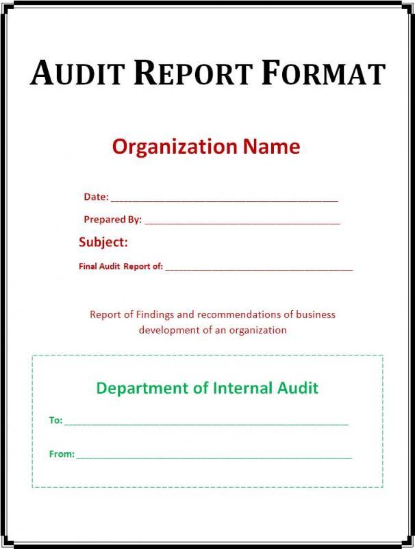 internal audit report examples - Towerssconstruction
