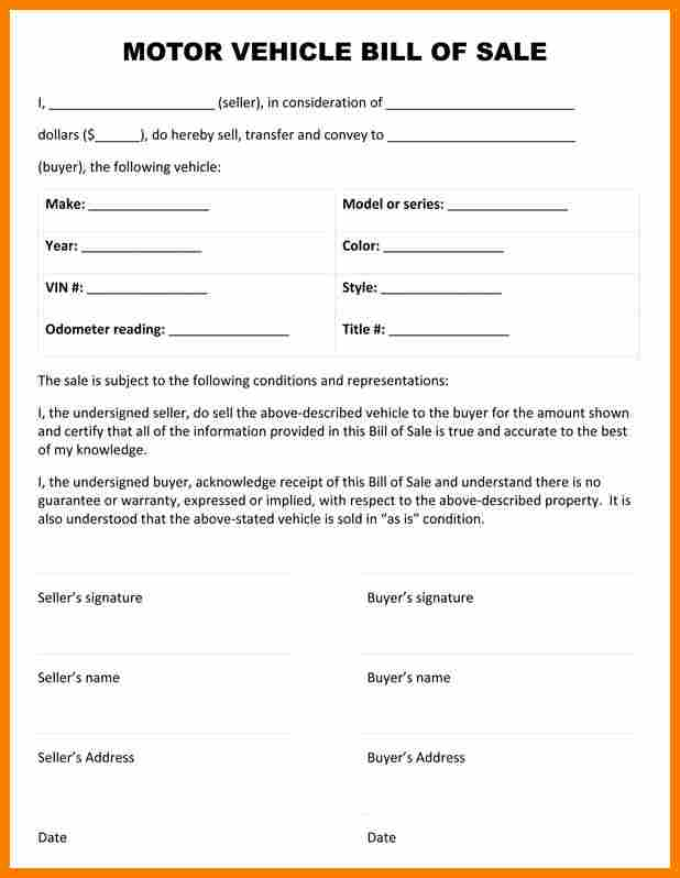 bill motor - Akbakatadhin - department of motor vehicles bill of sale form