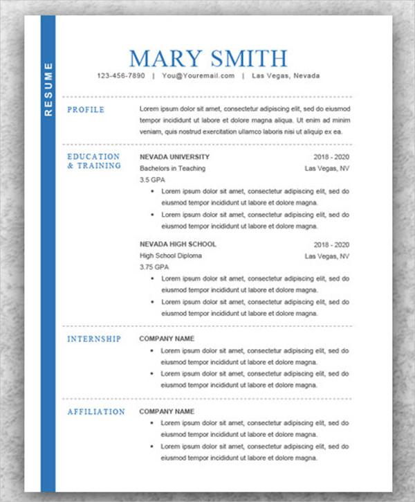 modern resume samples pdf