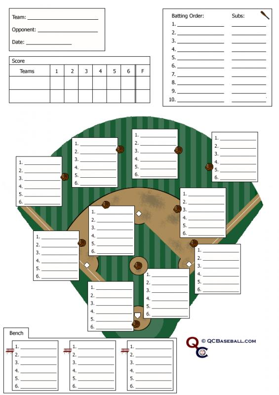 softball lineup sheets