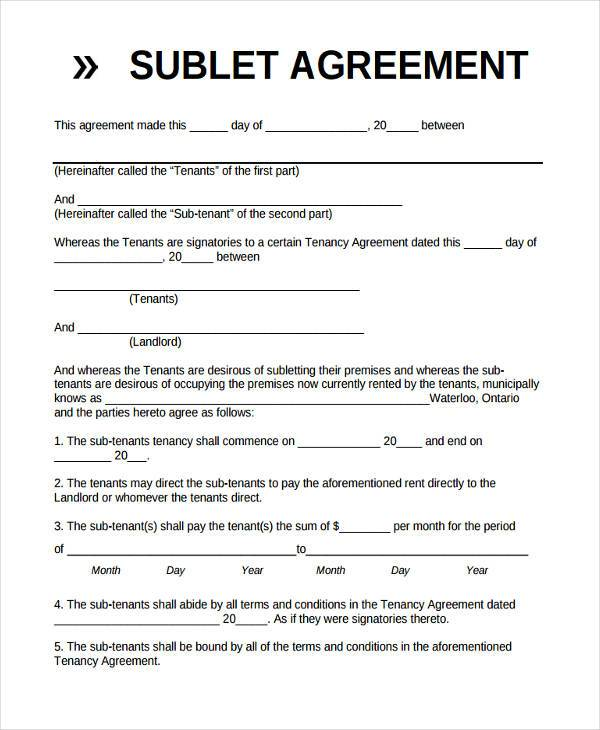 Basic Non Disclosure Agreement Template Business - basic sublet agreement