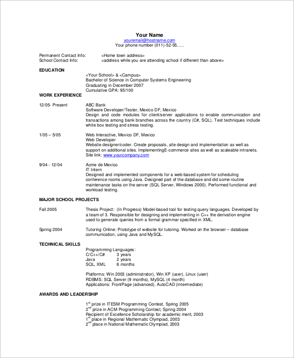 Basic Resume Examples Template Business - resume examples basic