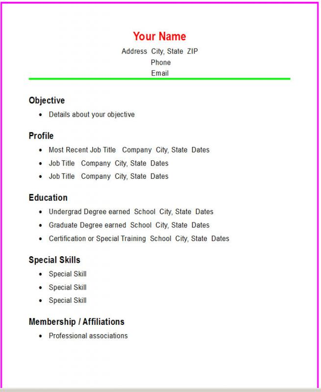Basic Resume Examples For Students - Unitedijawstates