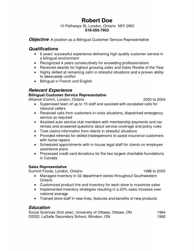Best Resume Objectives Template Business