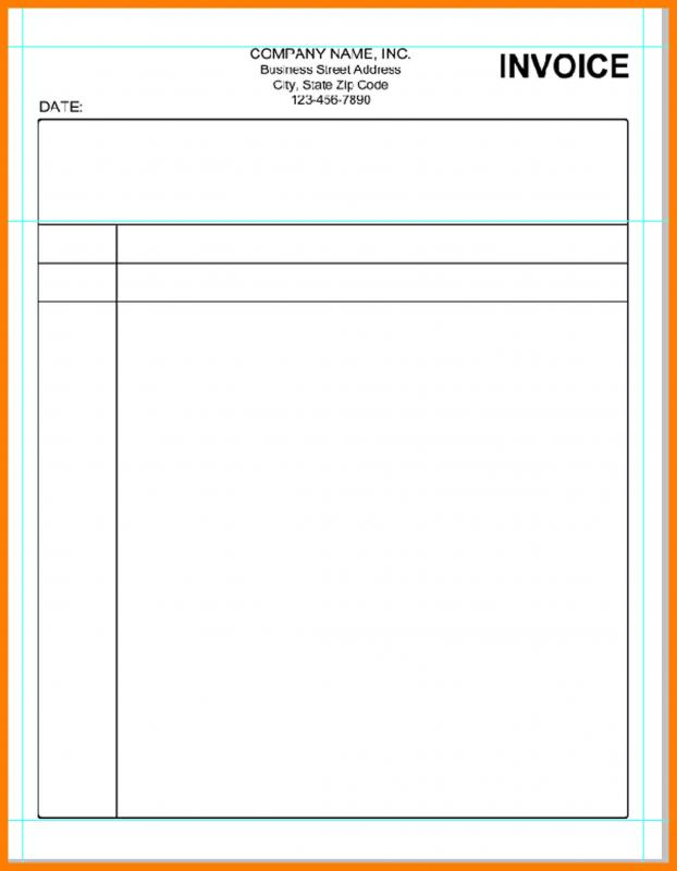 Blank Invoice Template Template Business - blank invoice template free