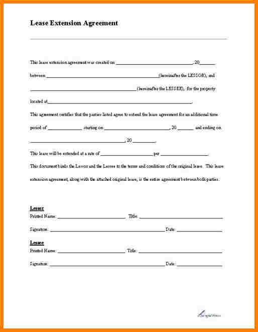 Blank Lease Agreement Template Business - free blank lease agreement forms