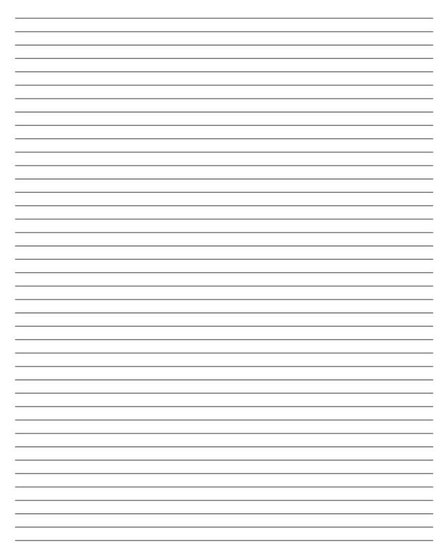 Blank Lined Paper Template Business - Print College Ruled Paper