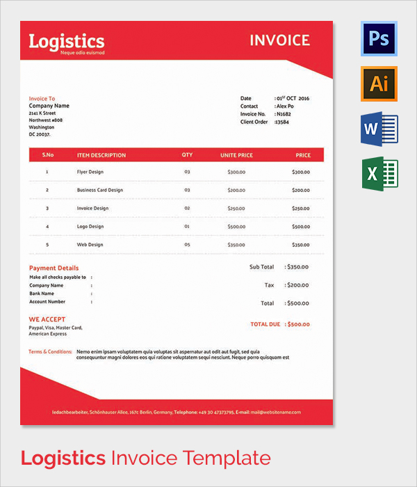 Blank Logo Templates Template Business - invoice template with logo