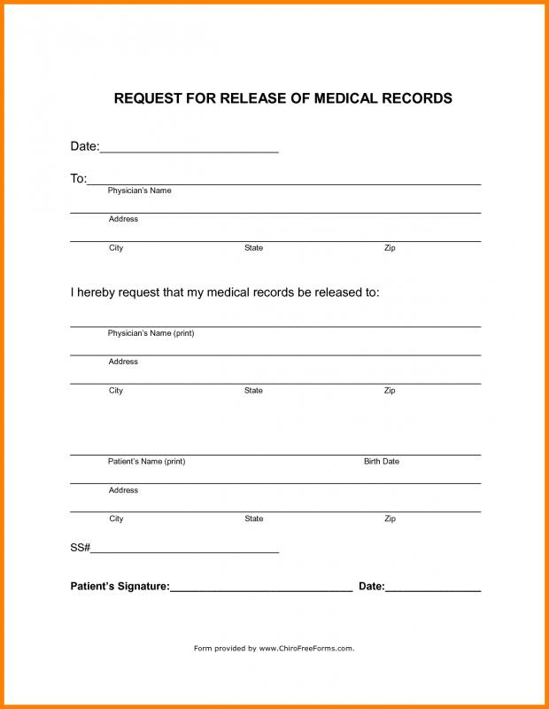 medical records release forms free - Selol-ink