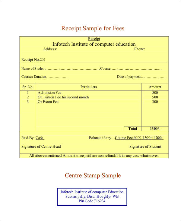 Blank Receipt Template Template Business
