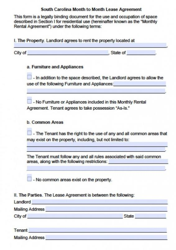 Blank Rental Agreement Template Business - blank lease agreement