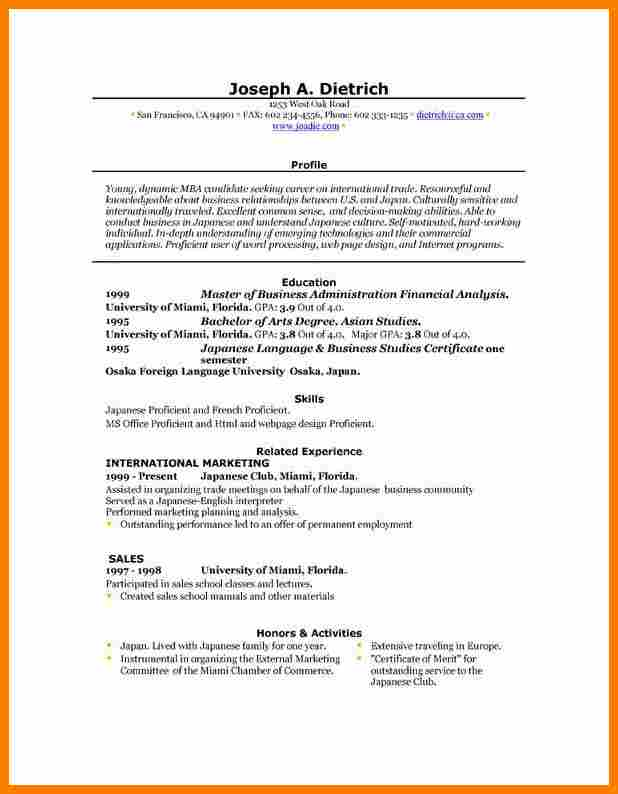 Blank Resume Templates For Microsoft Word Template Business