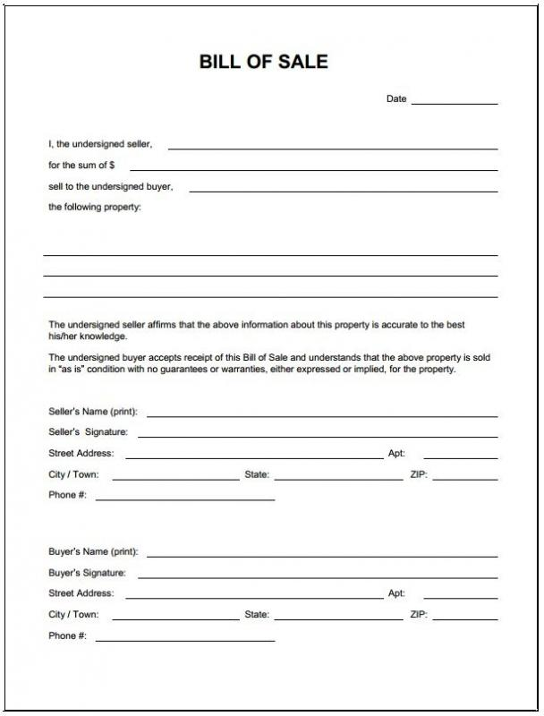 Boat Bill Of Sale Template Template Business