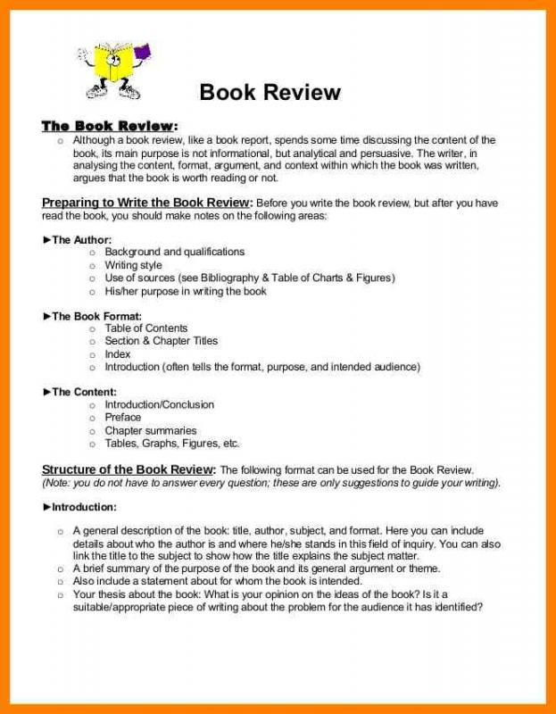 Book Report Example Template Business
