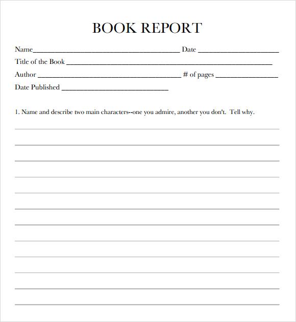 Book Report Format Template Business Book Report Template Book