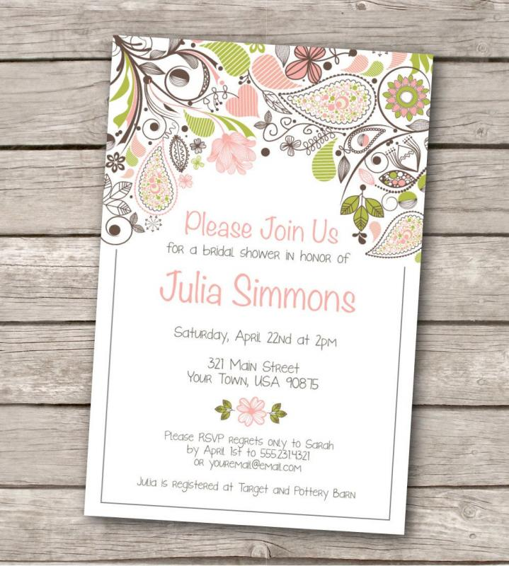 Bridal Shower Invitation Templates Microsoft Word Template Business