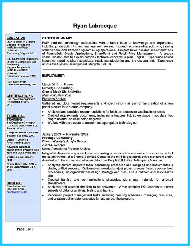 Business Analyst Resume Template Business - how to write a business analyst resume