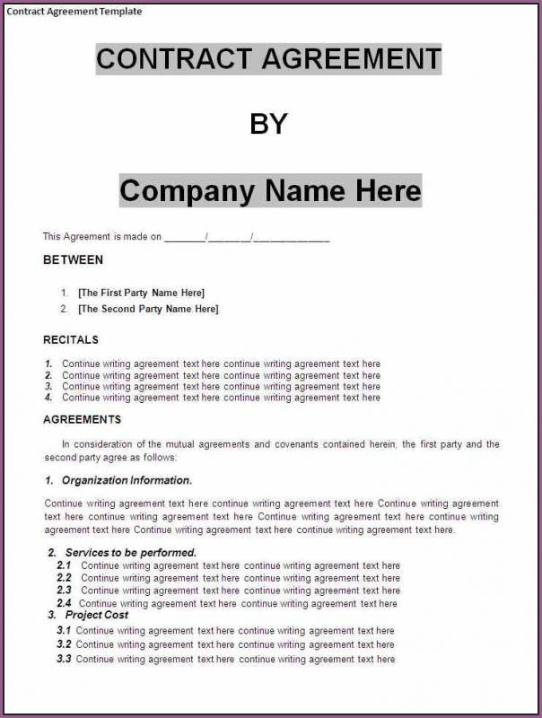Business Agreements Why Should You Consider Financial Agreements In - free business contract templates