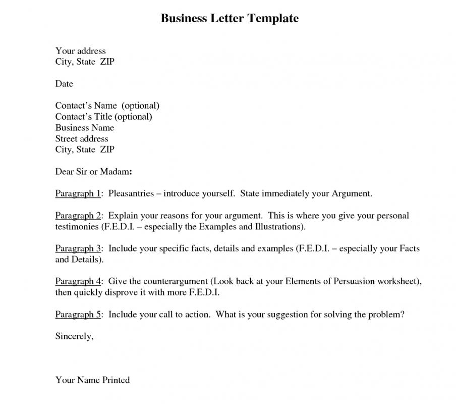 Business Letter Template Template Business